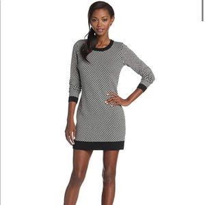 Joie Houndstooth Sweater Dress L EUC